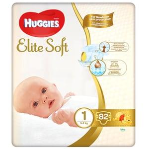 Scutece HUGGIES Elite Soft nr 1, Unisex, 3-5 kg, 82 buc
