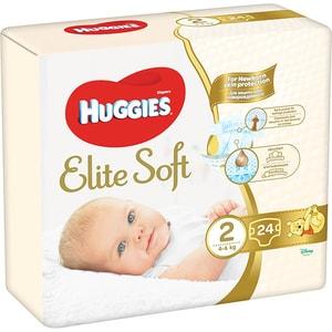 Scutece HUGGIES Elite Soft nr 2, Unisex, 4-6 kg, 24 buc