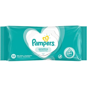Servetele umede PAMPERS Sensitive, 52buc