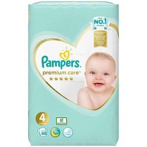 Scutece PAMPERS Premium Care nr 4, Unisex, 9 - 14 kg, 68 buc