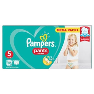 Scutece chilotei PAMPERS Pants Mega Box nr 5, Unisex, 12 - 18 kg, 96 buc