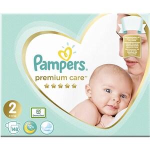 Scutece PAMPERS Premium Care Mega Box nr 2, Unisex, 4-8 kg, 148 buc