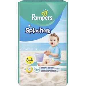 Scutece chilotei pentru apa PAMPERS Splash nr 3, Unisex, 6 - 11 kg, 12 buc