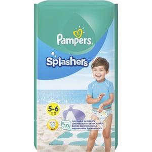 Scutece chilotei pentru apa PAMPERS Splash nr 5, Unisex, 14+ kg, 10 buc