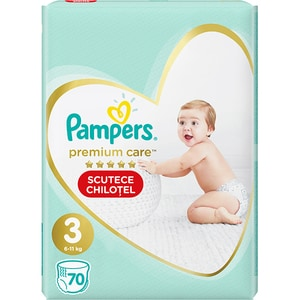 Scutece chilotei PAMPERS Premium Care Pants Mega Box nr 3, Unisex, 6-11 kg, 70 buc