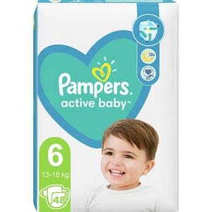Scutece PAMPERS Active Baby Mega Pack+ nr 6, Unisex, 13-18 kg, 48 buc