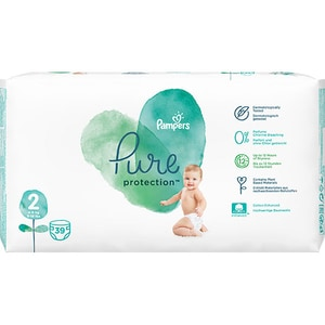 Scutece PAMPERS Pure Protection nr 2, Unisex, 4-8 kg, 39 buc