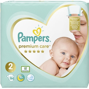 Scutece PAMPERS Premium Care Jumbo Pack nr 2, Unisex, 4-8 kg, 94 buc