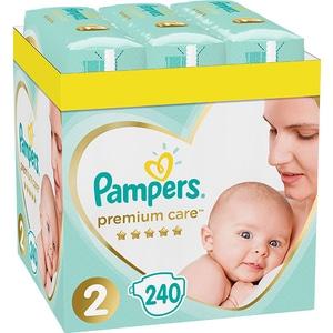 Scutece PAMPERS Premium Care XXL Box nr 2, Unisex, 4-8 kg, 240 buc