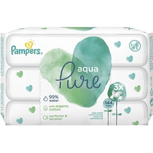 Servetele umede PAMPERS Aqua Pure, 144buc