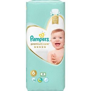 Scutece PAMPERS Premium Care Jumbo Pack nr 6, Unisex, 13kg+, 50 buc