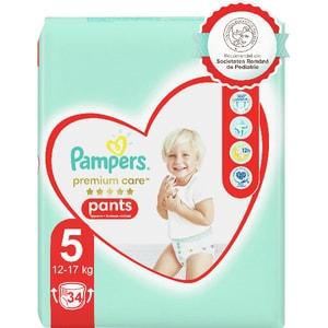 Scutece chilotei PAMPERS Premium Care Pants Value Pack nr 5, Unisex, 12-17 kg, 34 buc