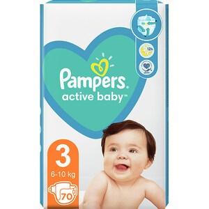 Scutece PAMPERS Active Baby nr 3, Unisex, 6-10 kg, 70 buc