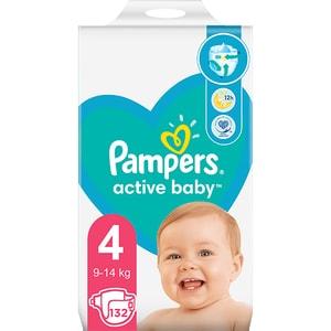 Scutece PAMPERS Active Baby nr 4, Unisex, 9-14 kg, 62 buc