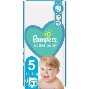Scutece PAMPERS Active Baby nr 5, Unisex, 11-16 kg, 54 buc