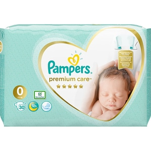 Scutece PAMPERS Premium Care Carry Pack nr 0, Unisex, 1-2.5 kg, 30 buc