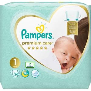 Scutece PAMPERS Premium Care Nou Nascut nr 1, Unisex, 2-5 kg, 26 buc