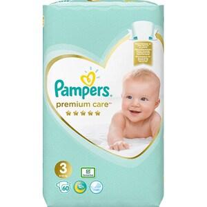 Scutece PAMPERS Premium Care Value Pack nr 3, Unisex, 6-10 kg, 60 buc