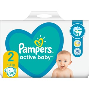 Scutece PAMPERS Active Baby Giant Pack nr 2, Unisex, 4-8 kg, 96 buc