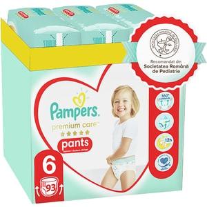 Scutece chilotei PAMPERS Premium Care Pants XXL Box nr 6, Unisex, 15 kg+, 93 buc