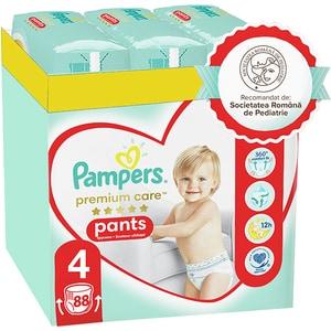 Scutece chilotei PAMPERS Premium Care Pants XXL Box nr 4, Unisex, 9-14 kg, 88 buc