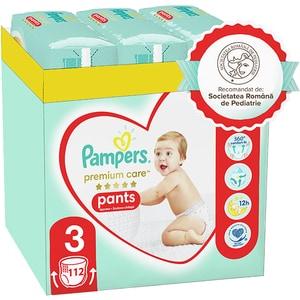 Scutece chilotei PAMPERS Premium Care Pants XXL Box nr 3, Unisex, 6-11 kg, 112 buc