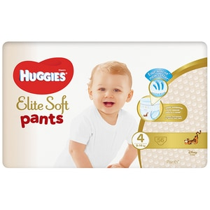 Scutece chilotei HUGGIES Elite Soft Pants nr 4, Unisex, 9-14 kg, 56 buc