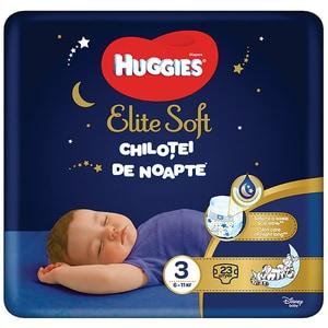 Scutece chilotel HUGGIES Elite Soft Overnight nr 3, Unisex, 6-11 kg, 23 buc