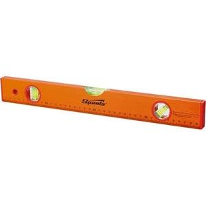 Nivela aluminiu SPARTA, 1000 mm, 3 bule, cu rigla, portocaliu