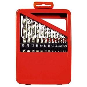 Set burghie pentru metal MTX, 1-10 mm, coada cilindrica, cutie, 19 piese