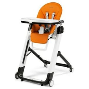 Scaun de masa 2 in 1 PEG PEREGO Siesta Follow Me Arancia IH03000000BL38, 0 luni-3 ani, portocaliu-alb