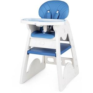 Scaun de masa JUJU Eat&Play V2 JU3003-K03-BLUE, 6 luni+, albastru-alb