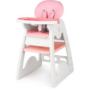 Scaun de masa JUJU Eat&Play V2 JU3003-K03-PINK, 6 luni+, roz-alb