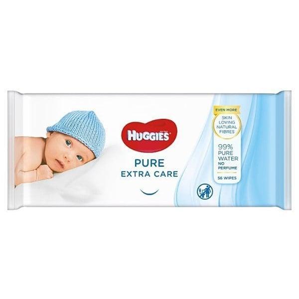 Servetele umede HUGGIES Pure Extra Care, 56 buc