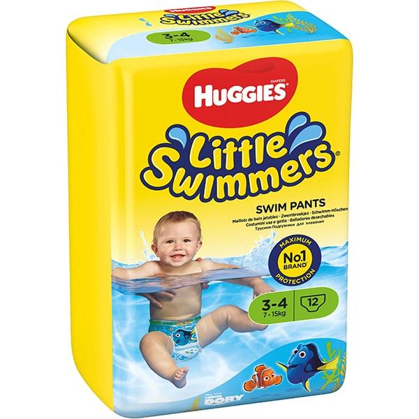 Scutece chilotei pentru apa HUGGIES Little Swimmers nr 3-4, Unisex, 7-15 kg, 12 buc