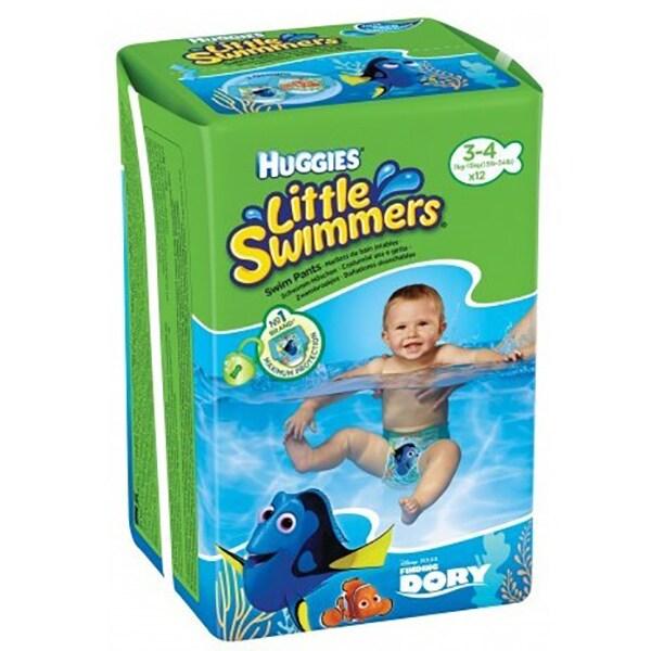 Scutece chilotei pentru apa HUGGIES Little Swimmers nr 3 - 4, Unisex, 7 - 15 kg, 12 buc