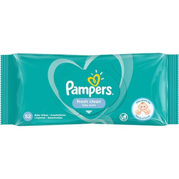 Servetele umede PAMPERS Baby Fresh, 52buc