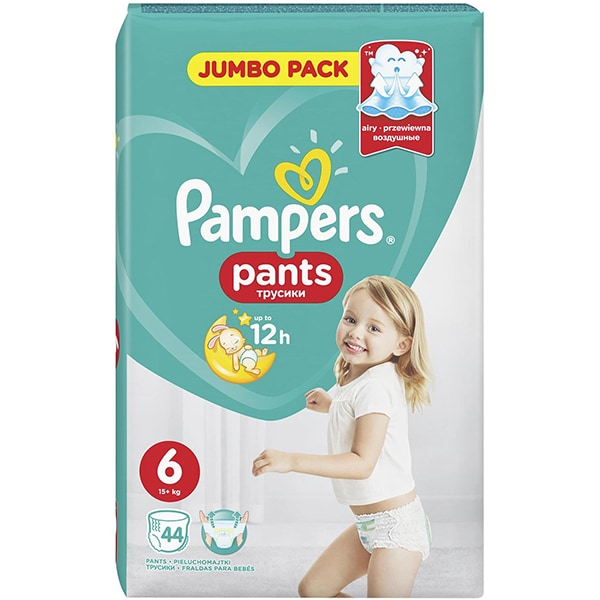 Scutece chilotei PAMPERS Pants Jumbo Pack nr 6, Unisex, 15+ kg, 44 buc