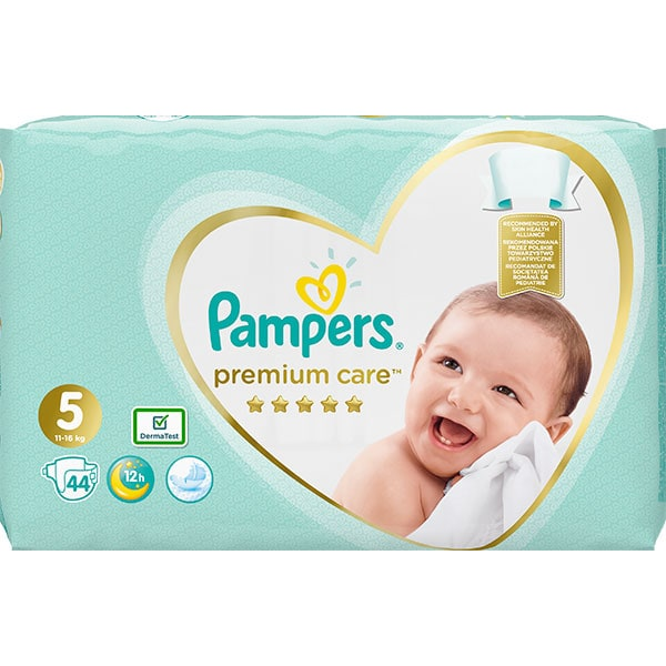 Scutece PAMPERS Premium Care Value Pack nr 5, Unisex, 11-16 kg, 44 buc