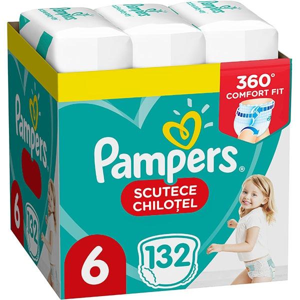 Scutece chilotei PAMPERS Pants XXL Box nr 6, Unisex, 15kg+, 132 buc