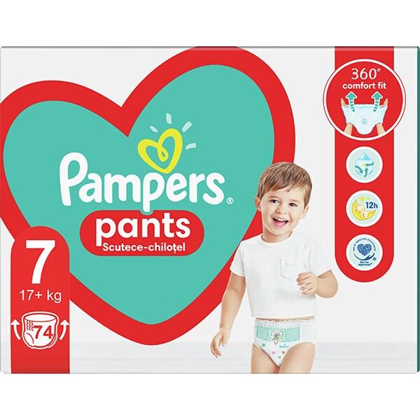 Scutece chilotei PAMPERS Pants Mega Box nr 7, Unisex, 17+kg, 74 buc