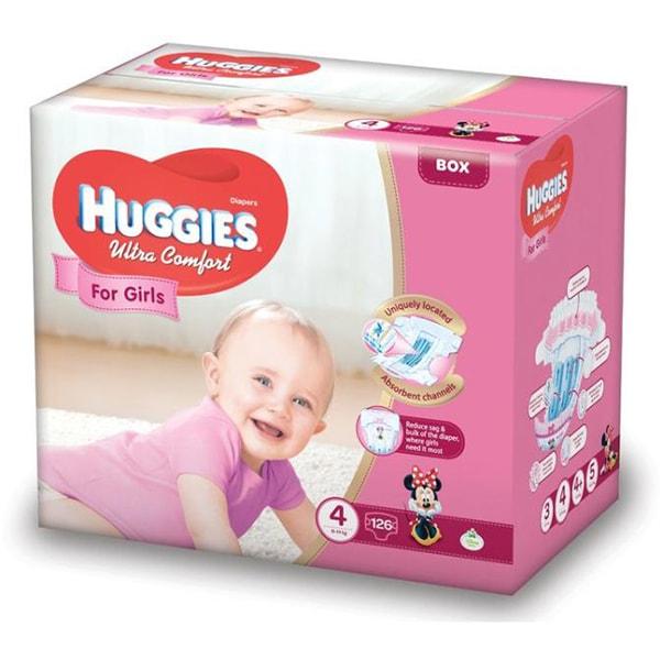 Scutece HUGGIES Ultra Comfort nr 4, Fata, 8 - 14 kg, 126 buc