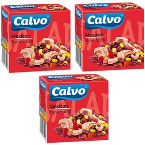 Salata mexicana cu ton CALVO, 150g, 3 bucati