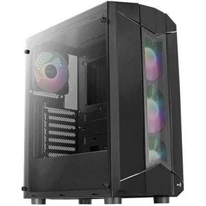 Carcasa AEROCOOL Sentinel, USB 3.0, fara sursa, iluminare ARGB, negru