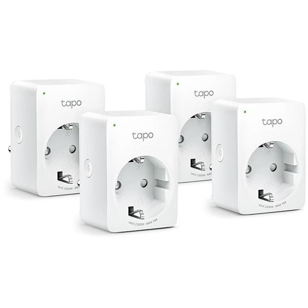 Kit 4 prize smart TP-LINK Tapo P100, Wi-Fi, 2300W, 10A, alb