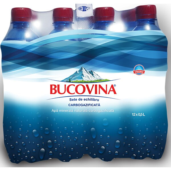 Apa minerala BUCOVINA bax 0.5L x 12 sticle