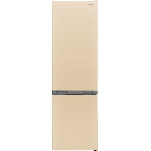 Combina frigorifica SHARP SJ-BA05DMXJE-EU, AdvancedNoFrost, 270 l, H 180 cm, Clasa E, bej