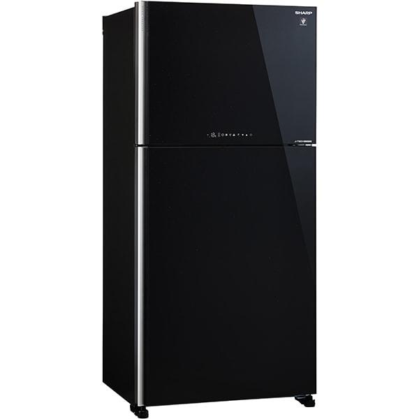 Frigider cu doua usi SHARP SJ-XG740GBK, Hybrid Cooling, 600 l, H 187 cm, Clasa A++, negru
