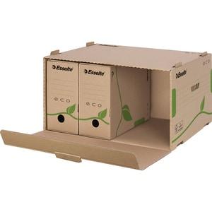 Container de arhivare ESSELTE, carton, Capacitate 5 cutii de 80 mm sau 4 cutii de 100 mm, maro