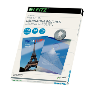 Folie de laminat LEITZ, 100 microni, A4, 100 bucati